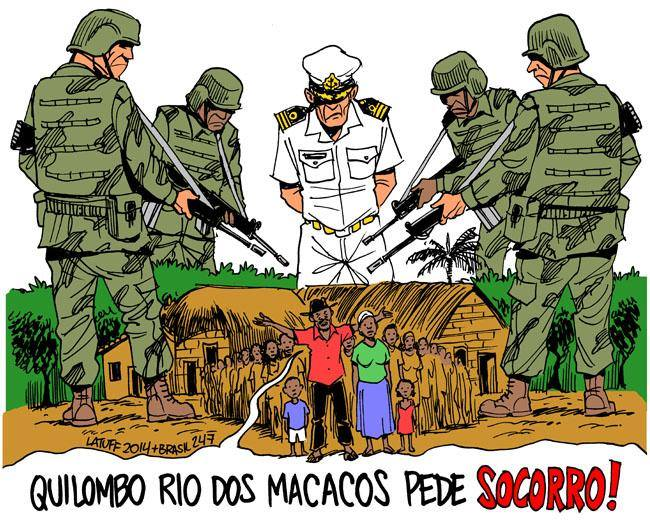 quilombo dos macacos latuff
