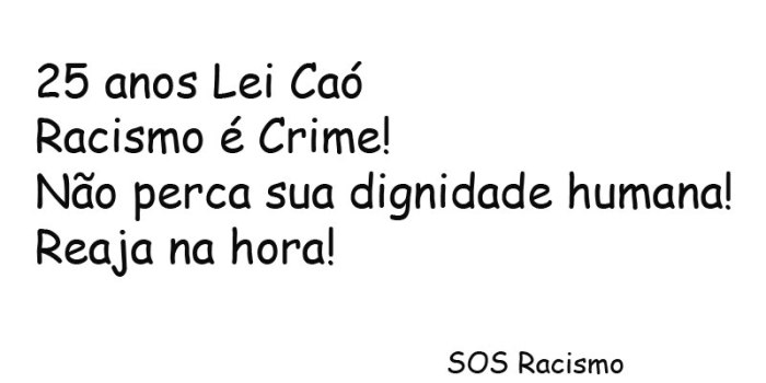 Racismo é Crime