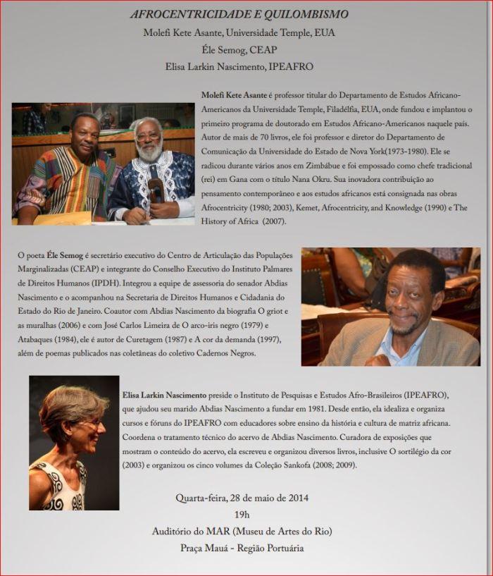 Afrocentricidade e Quilombismo