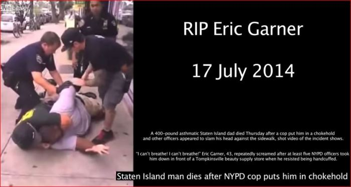 """Eric Garner morre após levar o golpe """"Mata-Leão"""" Método proibido pela polícia de Nova Iork"""