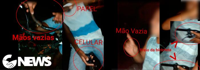 Análise do que os jovens tinham nas mãos (Foto: Guadalupe News)
