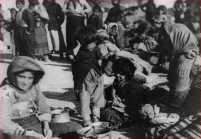 Fugitivos armênios na Síria 1915
