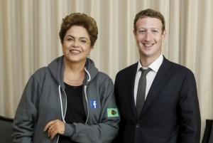 Dilma e Zuckerberg anunciam parceria