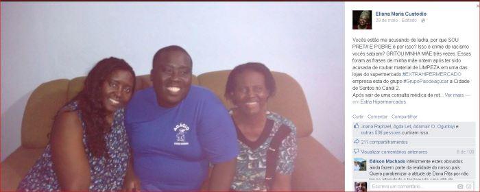 Dona Rita e família