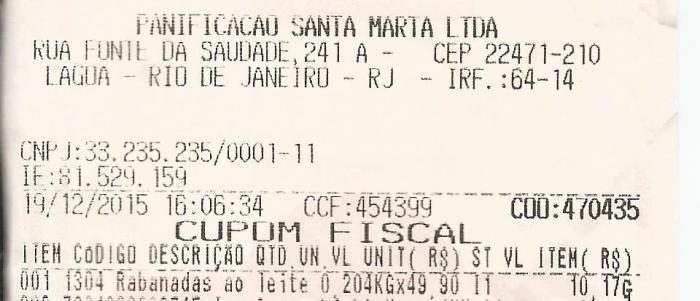 A Rabanada a preço de ouro em Ipanema. 40,90 reais o quilo na Panificação Santa Marta