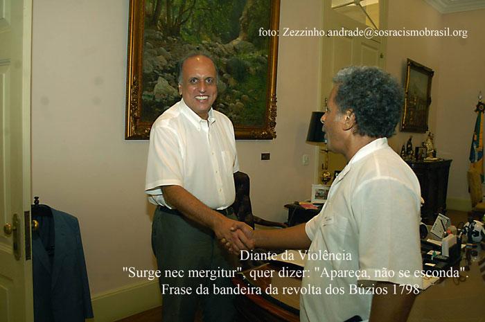 Luiz Fernando Pezão e Marcos Romão