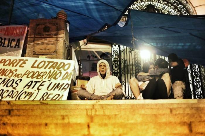 Presidente no Ocupa Câmara. Foto: Thiago Dezan