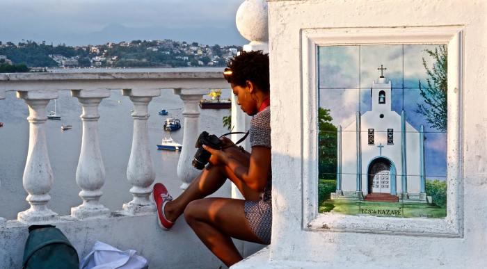 Preta com Tablet não pode ser vista na zona sul carioca