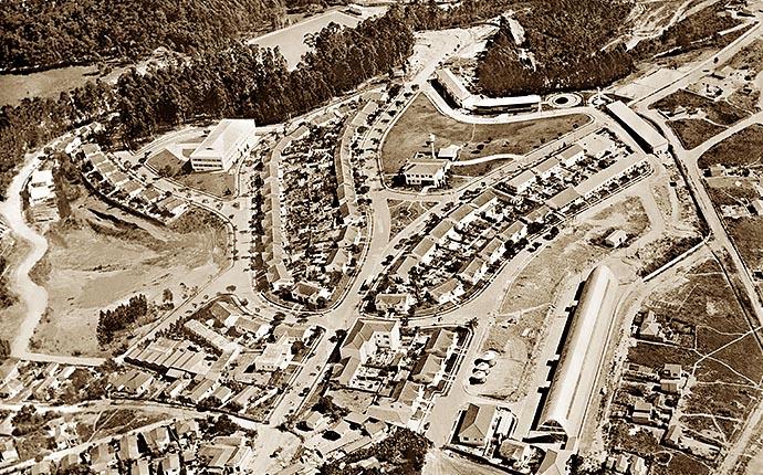 Vista aérea da Cidade-Deus-1957
