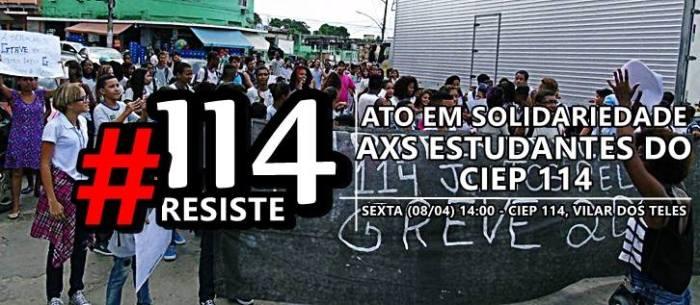 Manifestação em Solidariedade aos alunos do Cieps 114 clique para ser solidário