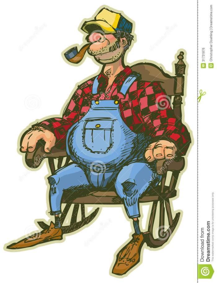 homem-idoso-em-desenhos-animados-do-vetor-da-cadeira-de-balano-31731876
